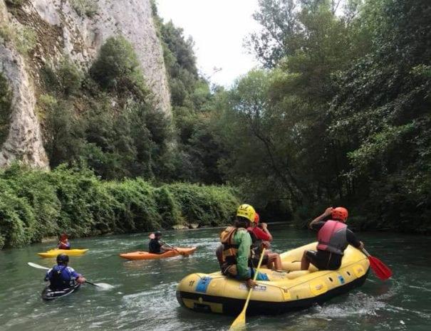 """In canoa presso """"Lo Schioppone"""""""