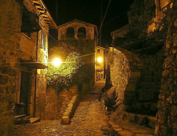 Collestatte by night