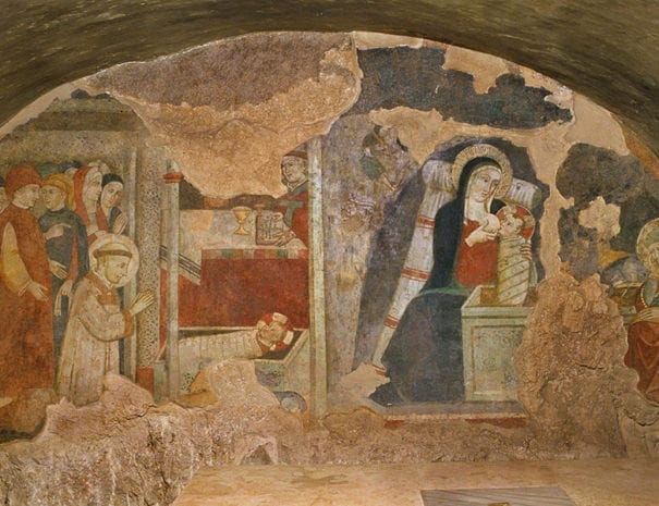 Santuario di Greccio - la grotta del presepe
