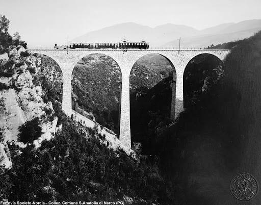 Ferrovia Spoleto-Norcia, foto d'epoca
