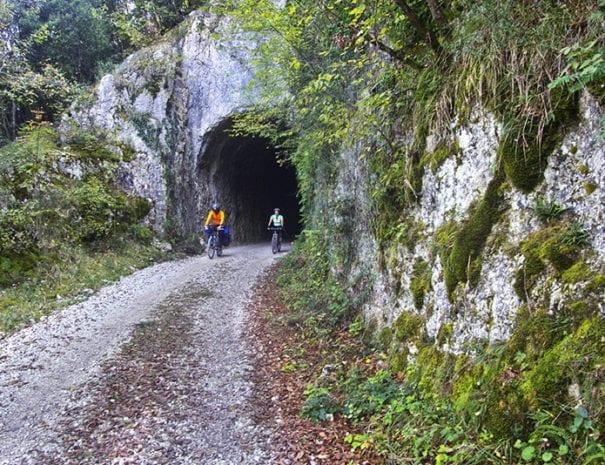 Ferrovia Spoleto Norcia presso la Balza tagliata